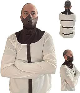 Adult Hannibal Lecter Jailbird Silence of the Lambs Fancy Dress Halloween Costume by Rubber Johnnies TM