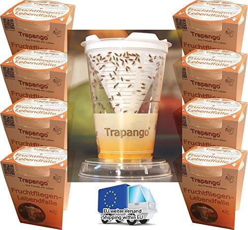 8 x Fruchtfliegen-Lebendfalle Trapango, (Vorteilspack) MACUR GmbH Teltow