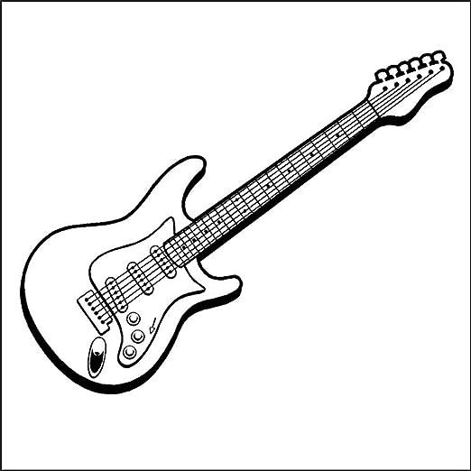 pegatinas de pared vinilo Música Diseño Guitarra Eléctrica Hermosa ...