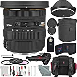 Sigma 10-20mm f/3.5 EX DC HSM Autofocus Zoom Lens For Canon DSLRs and Deluxe Xpix Bundle w/Remote + DSLR Case + 2-in-1Tripod + Deluxe Xpix Cleaning Kit + More