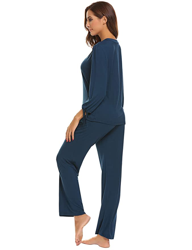 Caeasar Las Mujeres Ropa de Dormir Casual Ropa de Noche Conjunto de Pijama para Mujer: Amazon.es: Ropa y accesorios