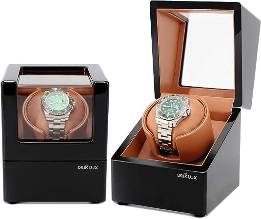 L.HPT Estuche automático de Reloj único para Rolex con Motor silencioso, Exterior de Cuero Negro Premium y Cojines de Reloj Flexibles Suaves, Reloj bobinadoras para Relojes automáticos: Amazon.es: Hogar