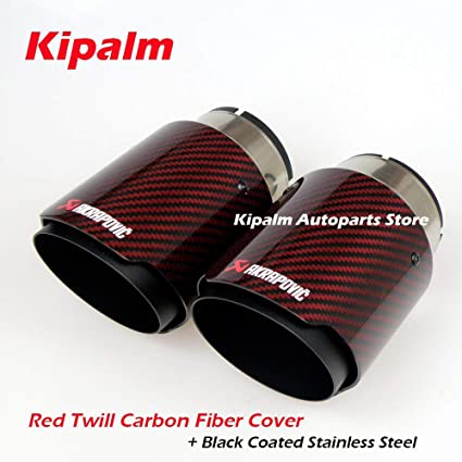 1PCS Auto Exhaust Pipe Tip Tail Muffler Covers Car Styling Stainless Steel 63MM