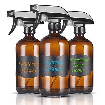 Amazon.com: Botellas de vidrio azul en aerosol, pulverizador ...