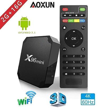 Android TV Box - Smart TV Box with Quad Core X96 Mini Android 7 1 OS  Amlogic S905W 3D/4K/HD Media Player 2GB 16GB/WiFi 2 4G X96 Mini TV Box