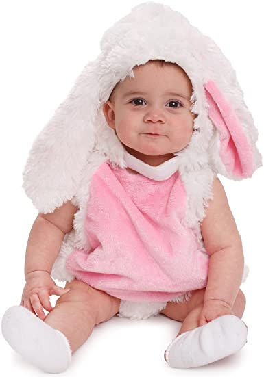 Toddler Rabbit Costume Baby Plush Pink Easter Bunny Animal Fancy Dress Outfit