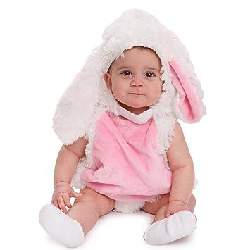 Dress up America- Disfraz Rosa y Blanco Acogedor Conejo de Peluche para bebés, Color, 0-6 Months (3.5-7 kg, 43-61 cm Height) (858-0-6)