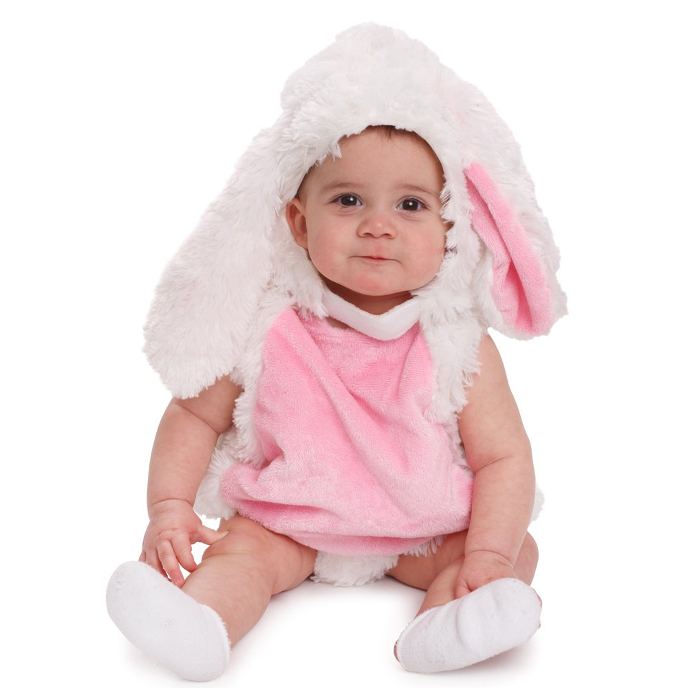 514177354 Amazon.com  Dress Up America Baby Plush Bunny Pink and White Cozy ...