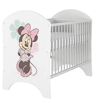 hogartrend Disney Minnie Mouse Lit pour bébé Motif Winnie l\'ourson 120 x 60  cm Minnie