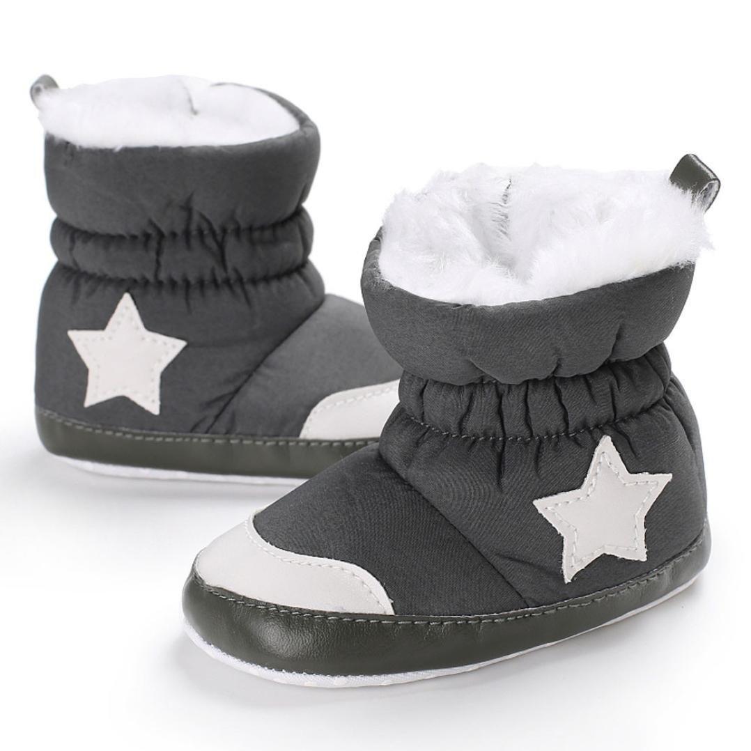 Sunward Cute Baby Toddler Infant Girls Warm Snow Boots Soft Sole Prewalker Crib Shoes