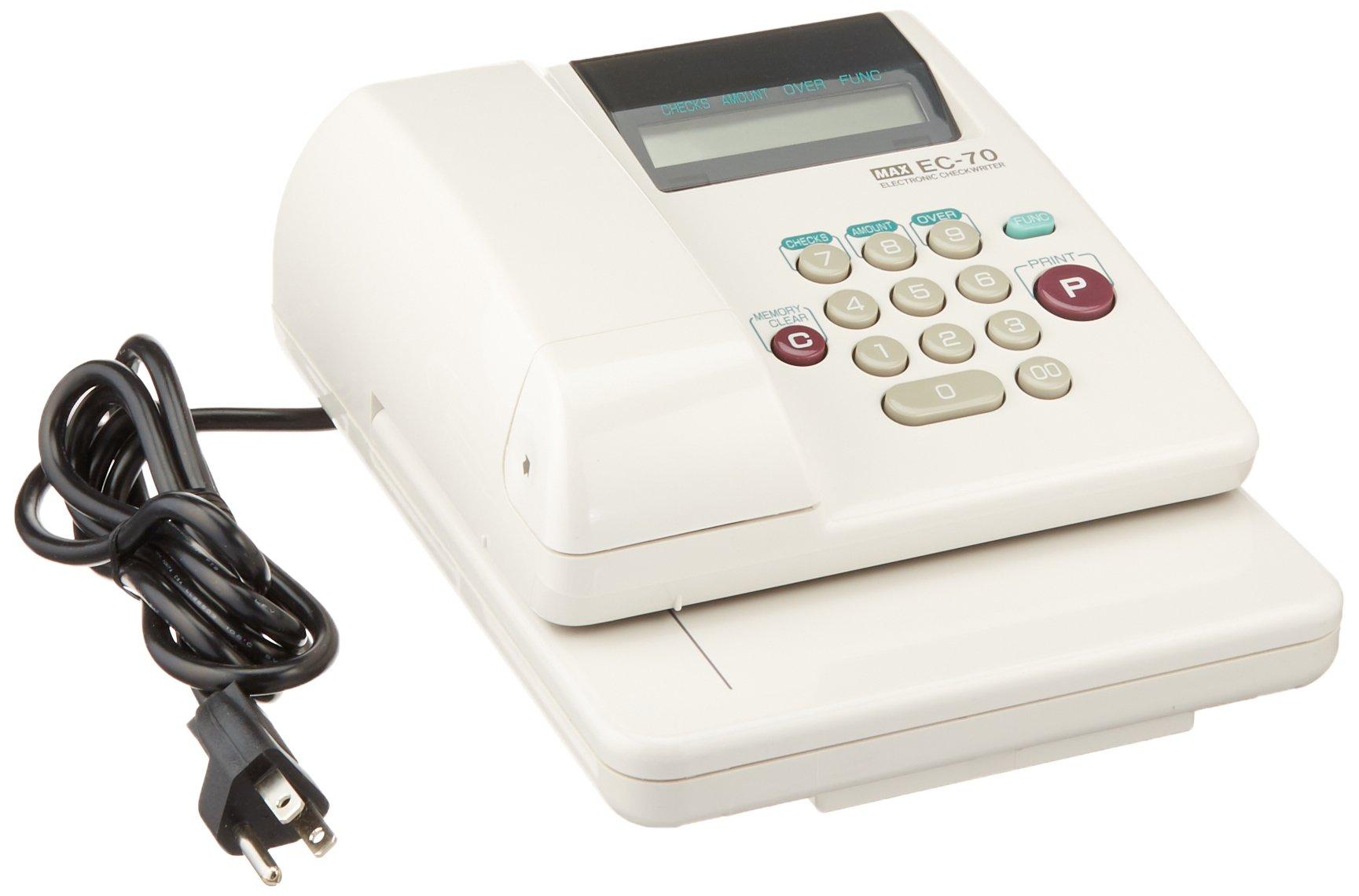 Max EC-70 Max Model EC-70 Electronic Checkwriter, 14-Digit, 7-7/8w x 9-5/8d x 3-5/8h
