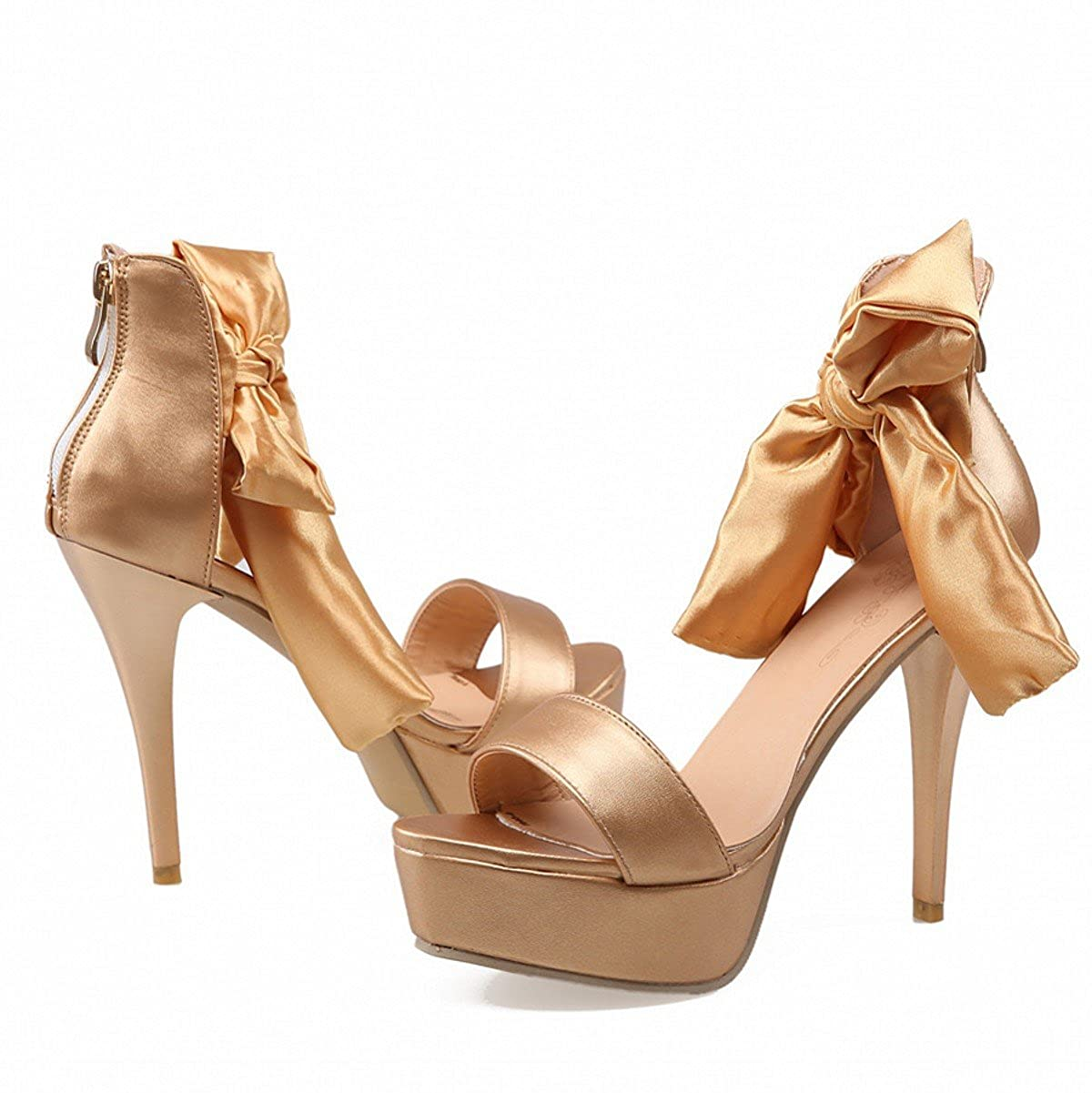 13bfd2925f2 Rongzhi Womens Platform High Heels Stilettos Pumps Ankle Strap Heeled  Sandals Dress Prom Shoes Peep Toe  Amazon.co.uk  Shoes   Bags