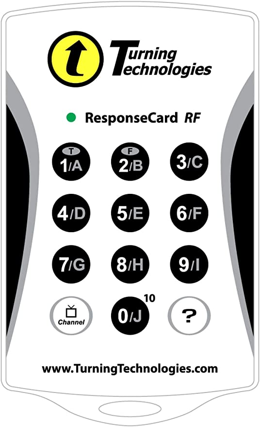 Lot of 100 TURNING TECHNOLOGIES RESPONSE CARD RF LCD RCRF-03 CLICKER REMOTE