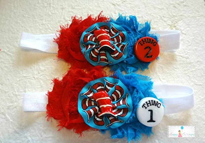 Amazoncom Baby Girls Seuss Headbands Set Of 2 The Cat In The Hat