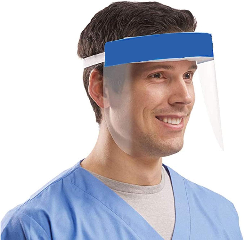 Protectores Faciales de Seguridad Pet,Aceite de Doble Cara Anti-Fog Anti Splash Transparente, plástico Ligero protección Visera, Ojo Protección parasoles