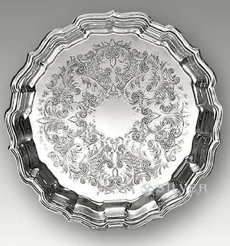 Fluted Round Platter (Reed & Barton Chippendale Tray, 14-1/2-Inch)