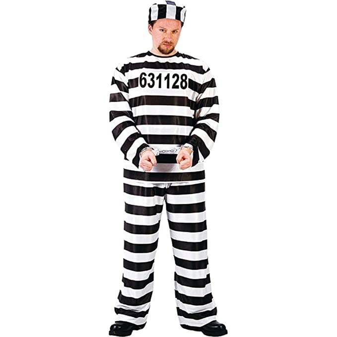 amazoncom fun world jailbird or prisoner costume clothing