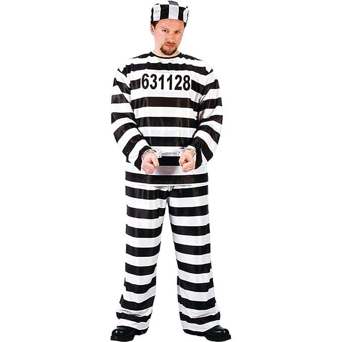 Fun World Jailbird Or Prisoner Black One Size Costume  sc 1 st  Amazon.com & Amazon.com: Fun World Jailbird Or Prisoner Costume: Clothing