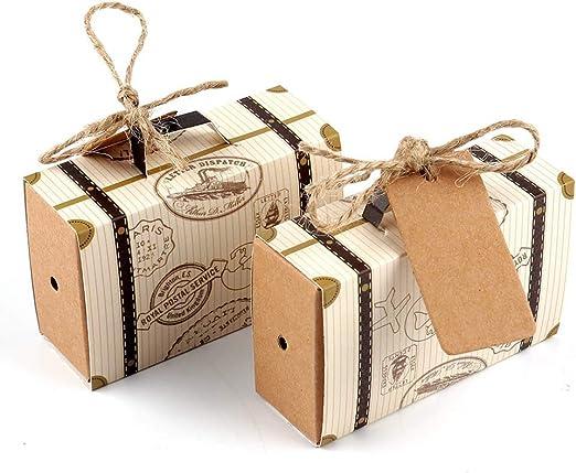 Amazon.com: AerWo - 50 cajas de recuerdo para maletas de ...