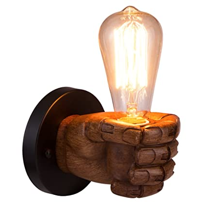 Led Lamps Classical Sconce Resin Fist Wall Lamps Corridor Lights Living Room Bedroom Lighting Retro E27 Edison Bulb Aisle Light