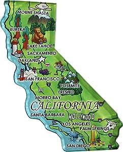 California - Acrylic State Map Refrigerator Magnet