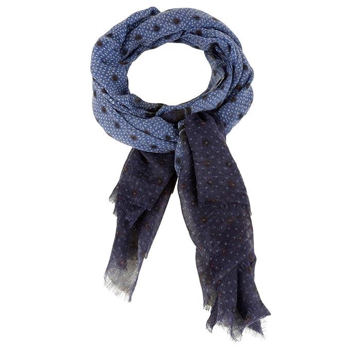 6f45f7563da9 Les Poulettes Bijoux Echarpe 100% Laine Bleu Pois Noir et Grain de Riz   Stéphanie Ducauroix  Amazon.fr  Vêtements et accessoires