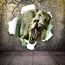 "Ryuan 3D Vivid Dinosaur Wall Decor Sticker Home Decals for Kids Boys Bedroom(19.7""*19.7"")"