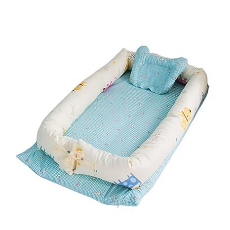 YUENA CARE un Juego de Cama Nido de Bebé Reductor Protector de Cuna Cama Cojín de Nido + Protector de Cuna + Almohada de Bebé #5
