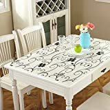 PVC Soft Glass Dining Table Cloth/Coffee Table Pad-B 90x150cm(35x59inch)