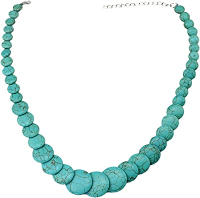collier pierre turquoise femme