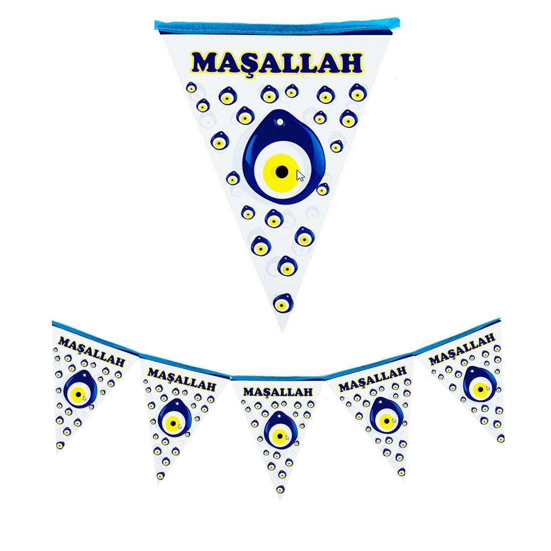 Beschneidung S/ünnet Deko Kapi S/üs/ü Bayrak Masallah Bayrak Flama Fahnenkette Wimpelkette S/ünnet Dekorasyon
