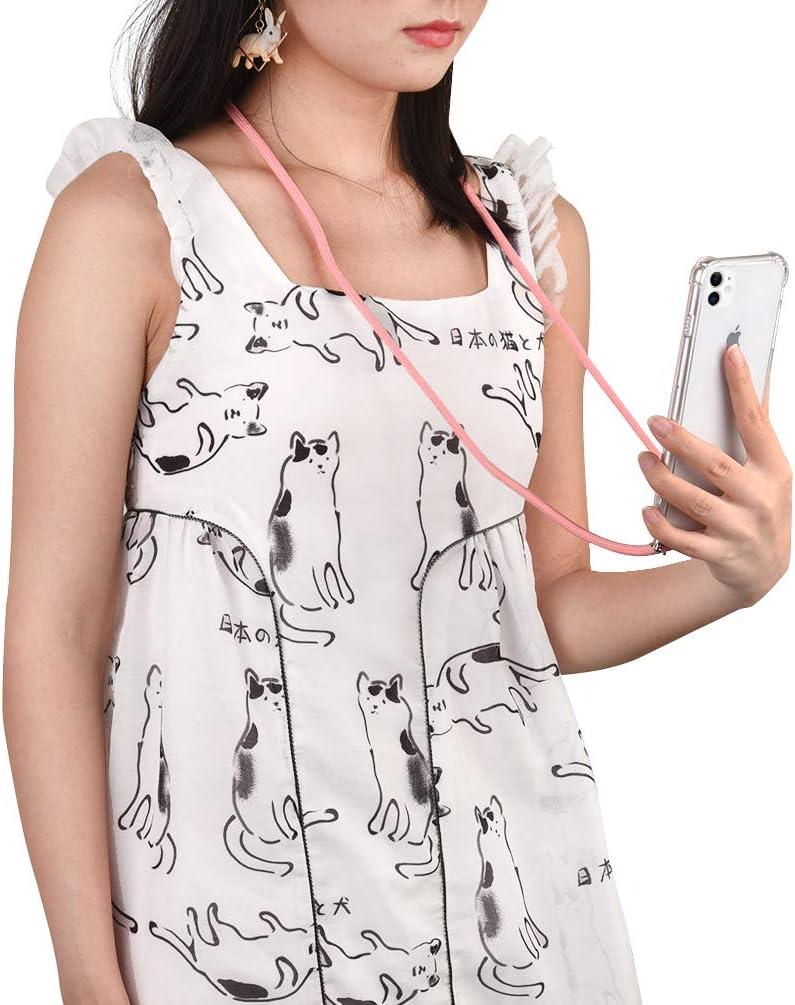 con Cordon para Llevar en el Cuello en Transparente Azul con Anillo de soporte 5.8 Carcasa con Colgante Case con Correa Colgante Funda con Cuerda para iPhone 11 Pro