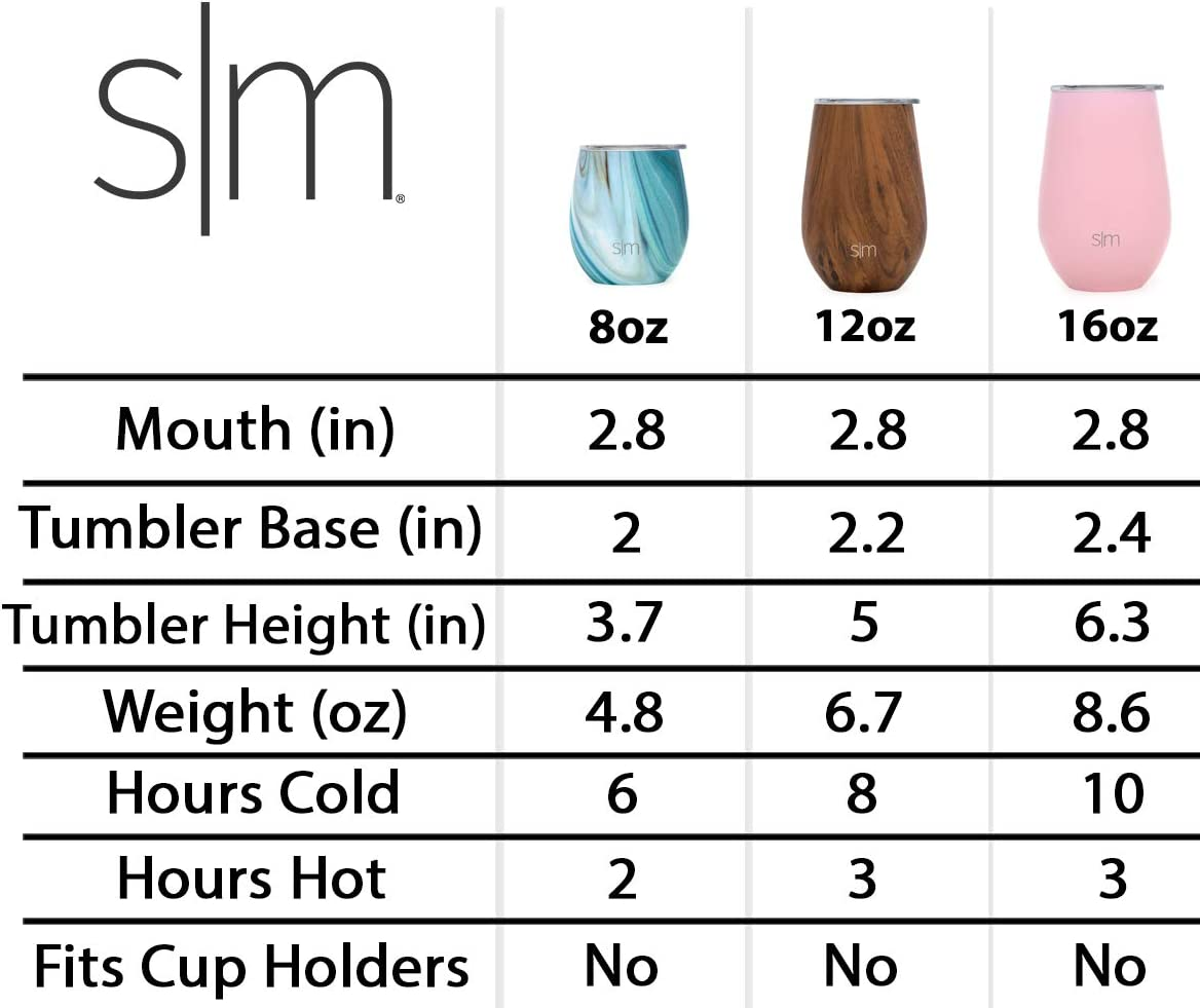 Simple Modern Spirit 8oz Wine Tumbler Glass with Lid Vacuum Insulated Stemless 18//8 Stainless Steel Wine Cup Pattern Reflection
