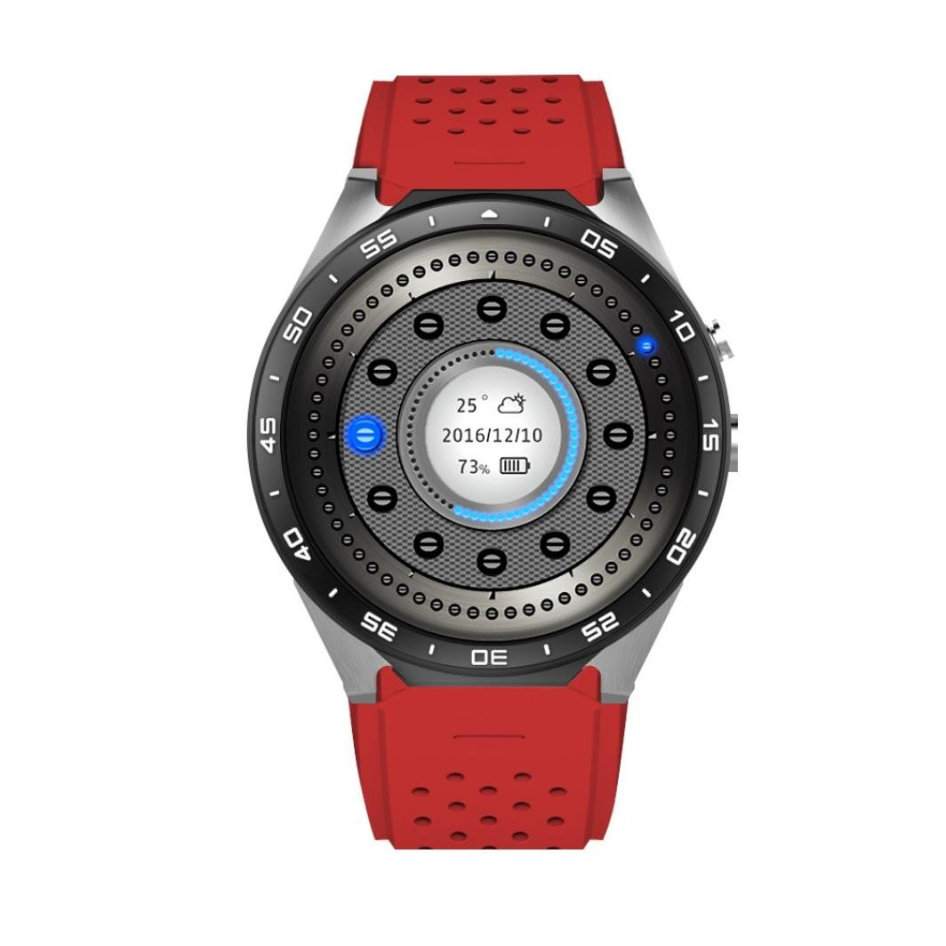 Smart Watch, Bestpriceam KW88 Android 5.1 Quad Core 4GB Bluetooth Smart Watch GPS WIFI for IOS Red