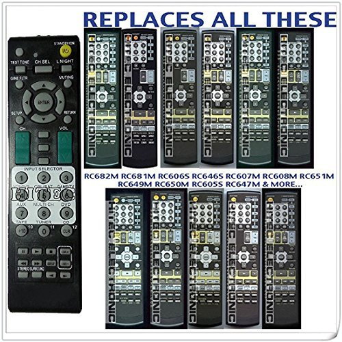 Generic Remote Control Replace for Onkyo Rc-649m Ht-r540 Ht-sr304s Tx-sr503 Tx-sr503s Tx-sr575 Av Receiver