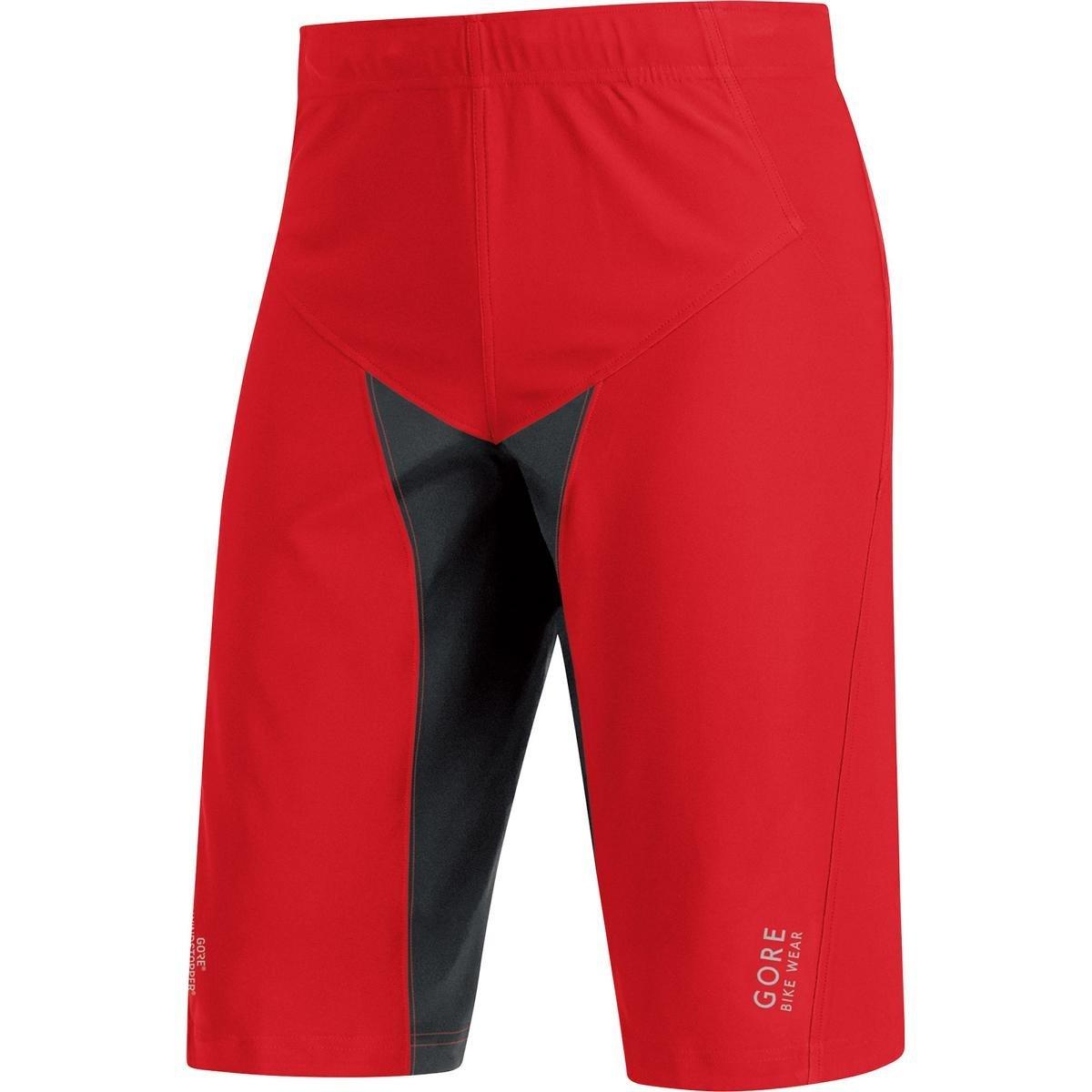 Gore Bike WEAR Men's Mountainbike Over-Shorts, Short, Gore Windstopper, ALP-X PRO WS SO Shorts, Size L, Red/Black, TWPALP