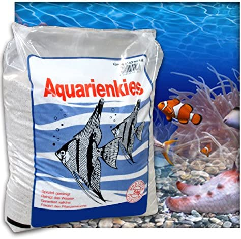 Aquariensand Aquariumsand Bodengrund 0,1-0,9 mm Aquarienkies hochrein Naturweiss