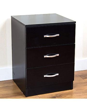 2f855fcdead2 ... Bedroom Bedside Table Unit Cabinet Nightstand 2 Drawer Storage. 40.  Home Black Bedside Drawer, Bedside Table, Metal Handles & Runners