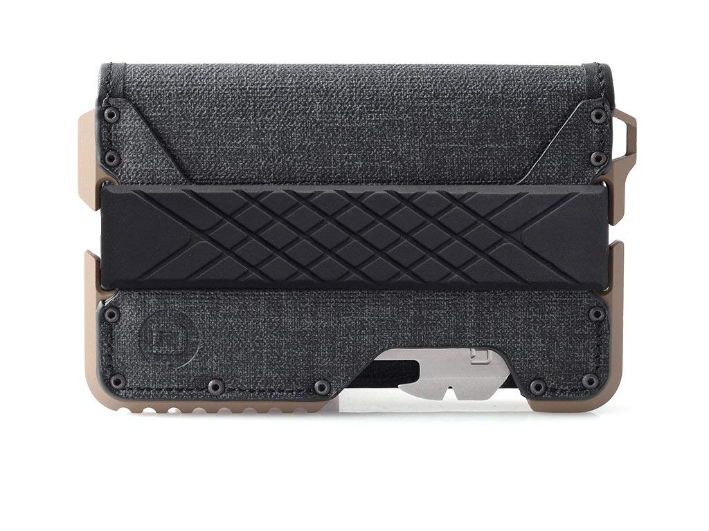 Dango T01 Tactical EDC Wallet - Made in USA - Genuine Leather, Multitool, RFID Block (Spec Ops Bifold - Black/Desert Sand + MT02 Multi-Tool) by Dango Products