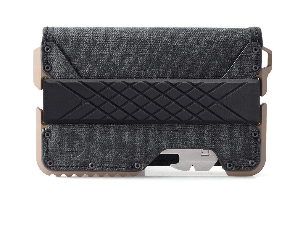Dango T01 Tactical EDC Wallet - Made in USA - Genuine Leather, Multitool, RFID Block (Spec Ops Bifold - Black/Desert Sand + MT02 Multi-Tool)