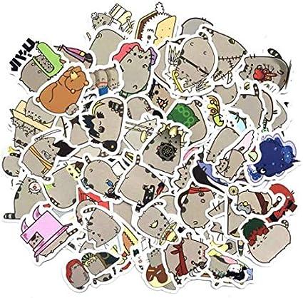 DZCYAN 100pcs/pack Cute Fat Cat Decoration Stickers DIY Paper ...