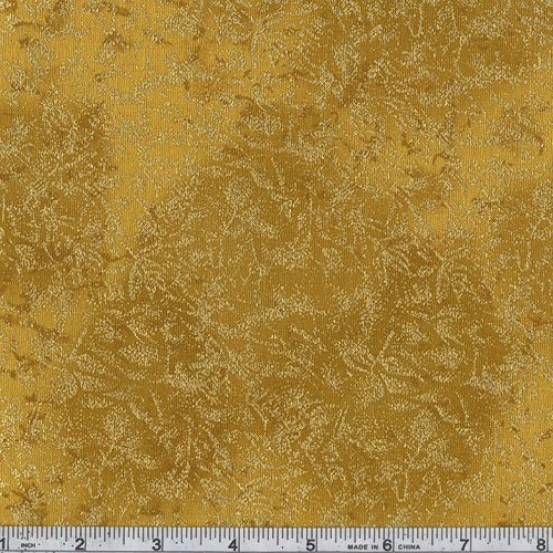 Michael Miller Fairy Frost Gold Metallic Fabric By The - Miller Michael Fabric Quilt