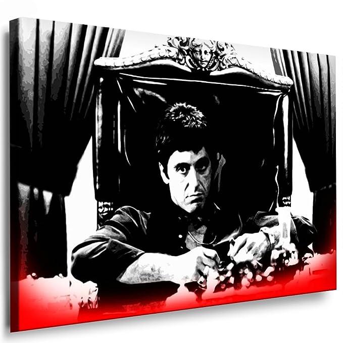 LEINWAND BILD Scarface Bilder mit Keilrahmen xxl Kunstdruck kein Poster