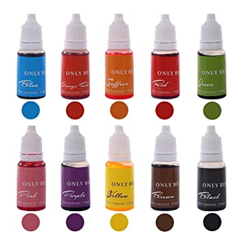 Amazon.com: Soap Dye 10 Color Skin Safe Food Grade Liquid Colorant ...