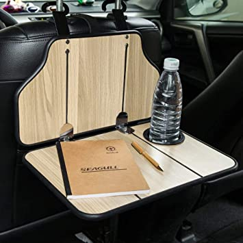 Fms Car Dining Table Folding Table For Car With Cup Holder Car Laptop Table For Car Back Seat Headrest Baby