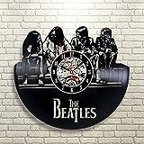 The Beatles Art Vinyl Wall Clock Gift Room Modern