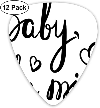 Guitar Picks 12-Pack,Modern Motivating Hand-Drawn Calligraphy Baby ...