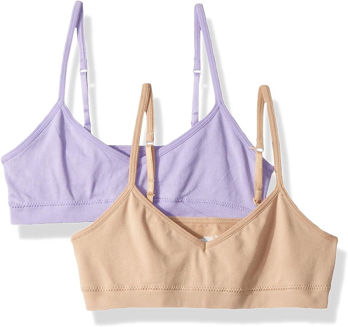 Hanes Big Girls ComfortFlex Seamless Bralette 2-Pack,