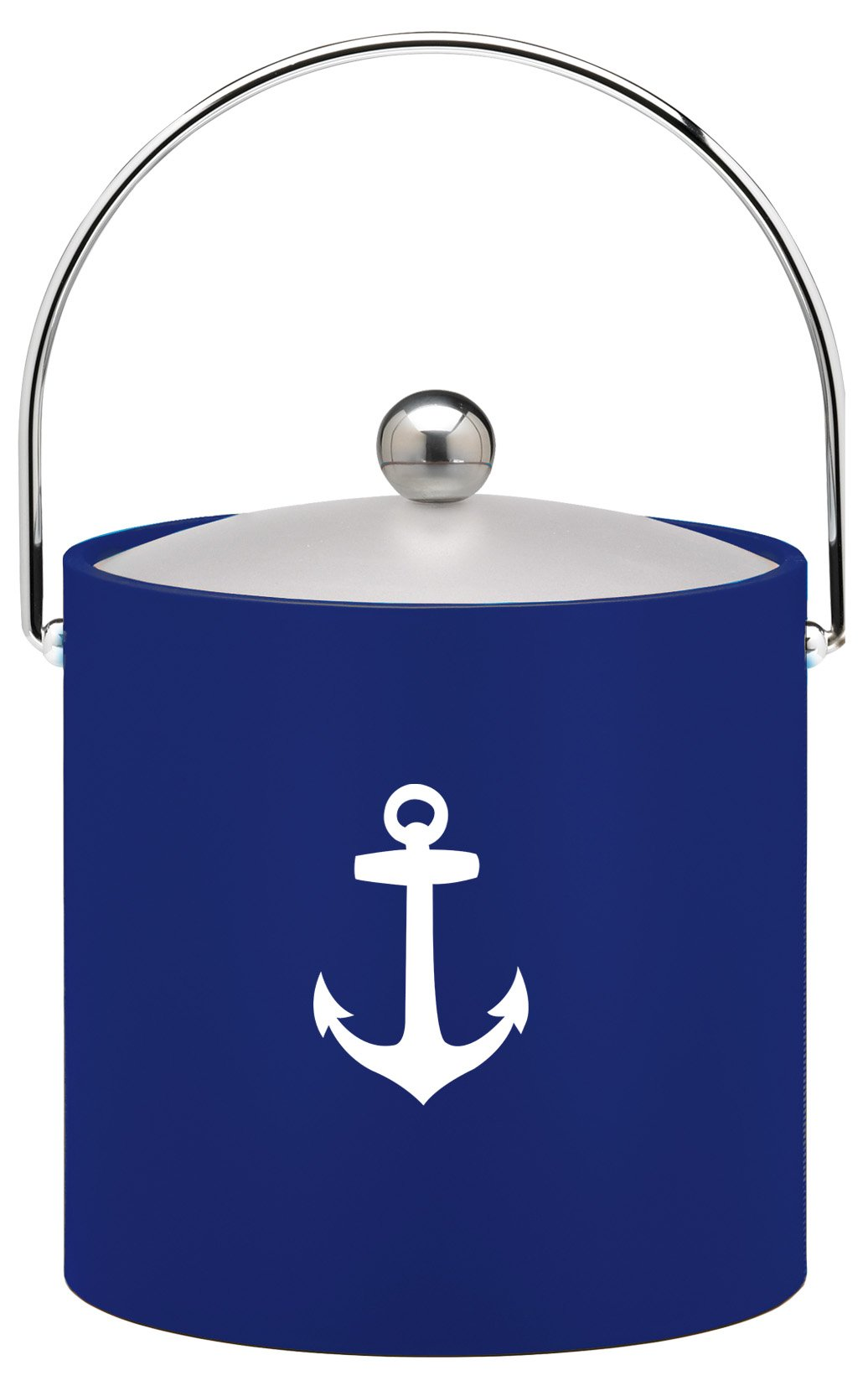 Kraftware Kasualware Collection Anchor Ice Bucket, Blue- 3 Quart