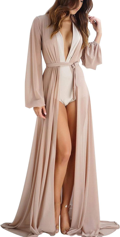 Kimono Cardigan JLTPH Mujeres Gasa Kaftan Cardigan Bikini Cover En Vestido De Playa Trajes De Ba/ño